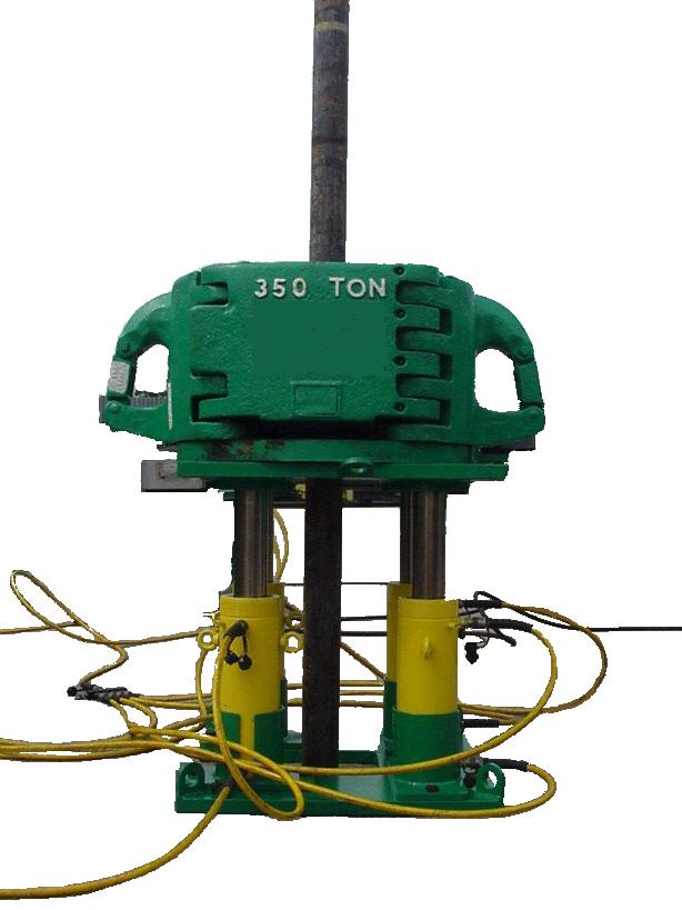 Set hydraulic jacks