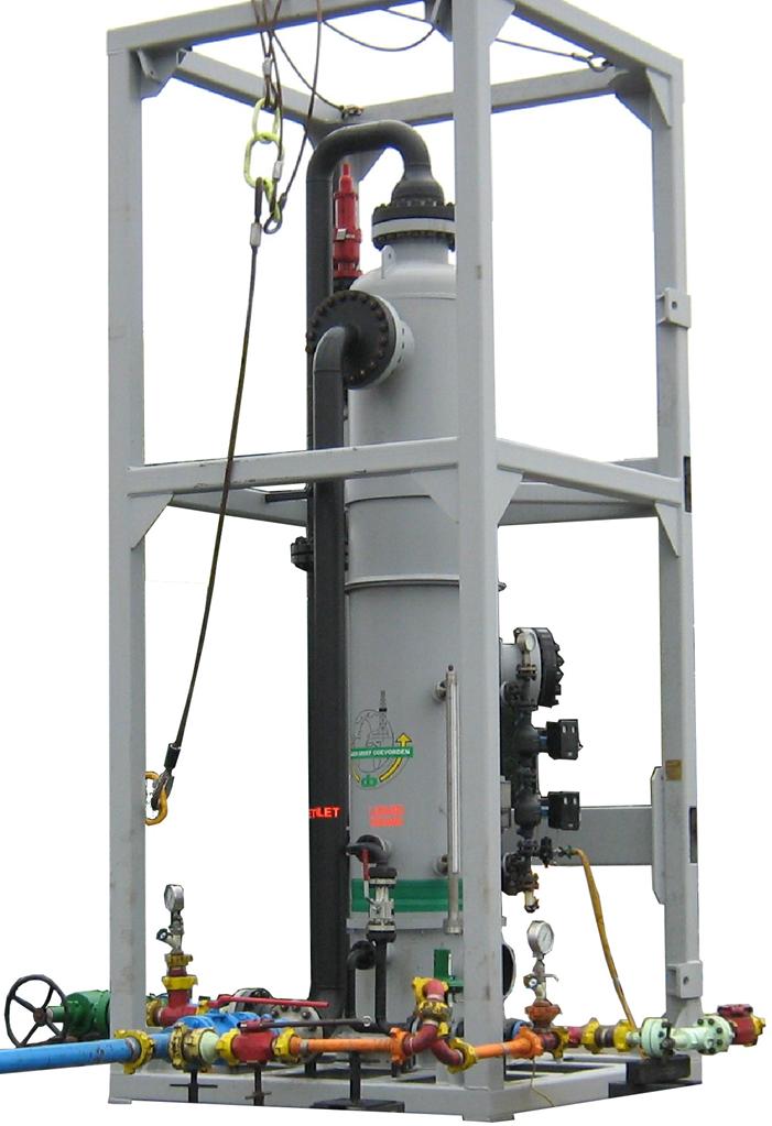 Low pressure separator offshore